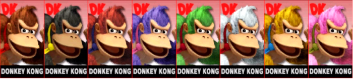 Paleta de colores de Donkey Kong SSB4 (3DS).png