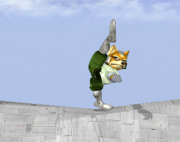 Ataque fuerte hacia arriba de Fox SSBM.png