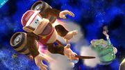 Diddy Kong usando Barril volador en Galaxia Mario SSB4 (Wii U).jpg