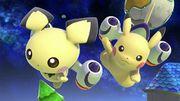 Pichu y Pikachu en Mario Galaxy SSBU.jpg
