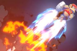 Vista previa de Hiperbarriles retropropulsados en la sección de Técnicas de Super Smash Bros. Ultimate
