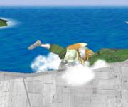 Ataque de recuperación de cara al suelo de Fox (1) SSBM.png