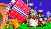 Créditos Modo Leyendas de la lucha Pikachu SSB4 (3DS).png