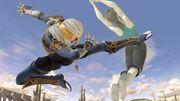 Sheik atacando a la Entrenadora de Wii Fit en Coliseo SSBU.jpg