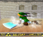 Ataque Smash hacia abajo de Link (2) SSBM.png