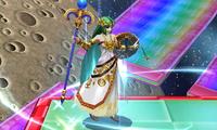 Palutena activando Antigravedad en Super Smash Bros. para Nintendo 3DS.