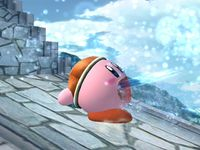 Kirby usando Pistola agua SSBB.jpg