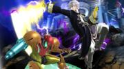 Daraen atacando a Samus en el Castillo de Wily SSB4 (Wii U).png