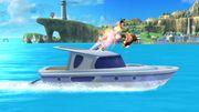 Link, Donkey Kong y Little Mac en las Islas Wuhu SSB4 (Wii U).jpg