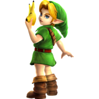 Art oficial de Young Link en Hyrule Warriors Legends.