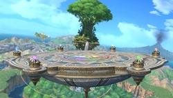 Vista de la plataforma principal en Super Smash Bros. Ultimate