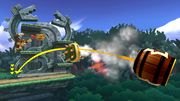 Bowser, Pac Man y Donkey Kong en la Jungla escandalosa SSB4 (Wii U).jpg