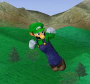 Ataque aéreo hacia abajo de Luigi SSBM.png