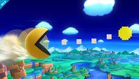 Pac-Man usando Píldora de poder en Super Smash Bros. para Wii U