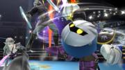 Meta Knight, Zelda y Link en el Ring de Boxeo SSB4 (Wii U).png