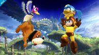 El Dúo Duck Hunt junto Mega Man ayudado por Beat SSB4 (Wii U).jpg