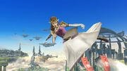 Ataque aéreo hacia adelante Zelda SSB4 Wii U.jpg