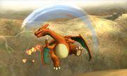 Ataque aereo superior de Charizard SSB4 (3DS).jpg
