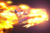 Vista previa de Patada Falcon en la sección de Técnicas de Super Smash Bros. Ultimate