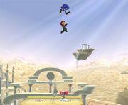 Mario aprovechando el salto del muelle SSBB.jpg