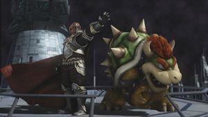 Ganondorf y Bowser comandando la nave.