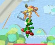 Lanzamiento hacia arriba de Yoshi (2) SSBM.png