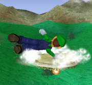 Ataque de recuperación de cara hacia arriba de Luigi (2) SSBM.png