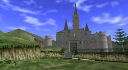 El Castillo de Hyrule en The Legend of Zelda: Ocarina of Time.