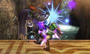 Ganondorf usando Salto oscuro en SSB4 (3DS).jpg