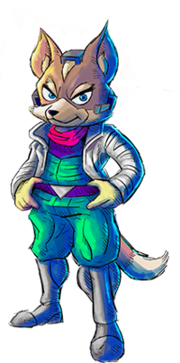 Art oficial de Fox McCloud en Star Fox 2