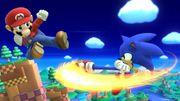 Ataque aéreo hacia atrás Sonic SSB4 (Wii U).jpg