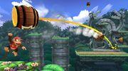 Diddy Kong, Donkey Kong y Pac Man en la Jungla escandalosa SSB4 (Wii U).jpg
