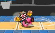 Ataque Smash hacia abajo de Wario (1) SSB4 (3DS).JPG