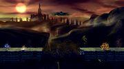 Bowser, Link, Lucario y Zelda en el Gran Puente de Eldin SSB4 (Wii U).jpg