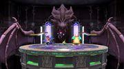 Sala del Alto Mando de tipo Dragón en Liga Pokémon de Kalos SSBU.jpg