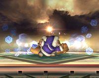 Popo y Nana realizando la ventisca en Super Smash Bros. Brawl.