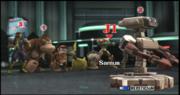 Samus Pikachu R.O.B. Captain Falcon Donkey Kong Diddy Kong y Olimar seleccion La fabrica de bombas subespaciales II ESE SSBB.png
