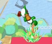 Lanzamiento hacia abajo de Yoshi SSBM.png