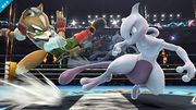Mewtwo y Fox en el Cuadrilátero SSB4 (Wii U).jpg