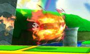Karateka Mii usando Patada ardiente SSB4 (3DS) (2).JPG