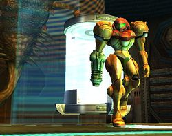 Entrada de Samus en Super Smash Bros. Brawl.