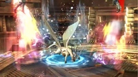 Corrin utilizando el movimiento en Super Smash Bros. for Wii U.