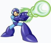 Artwork de Mega Man usando el Mega cañon en Mega Man 9.jpg