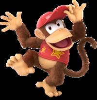 Art oficial de Diddy Kong en Super Smash Bros. Ultimate