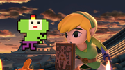 Pac-Man y Toon Link en Suzaku Castle SSBU.png