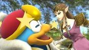 Rey Dedede y Zelda en el Vergel de la Esperanza SSB4 (Wii U) (1).jpg