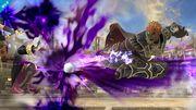 Ganondorf usando Patada del hechicero contra Daraen SSB4 (Wii U).jpg