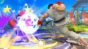 Ryu atacando a Mario SSB4 (Wii U).jpg