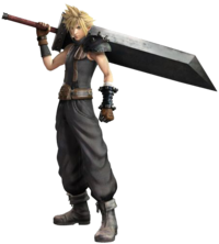 Art oficial de Cloud Strife en Dissidia Final Fantasy NT