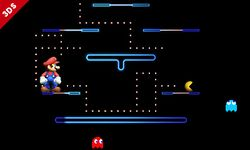 Mario junto con Pac-Man en Pac-Maze